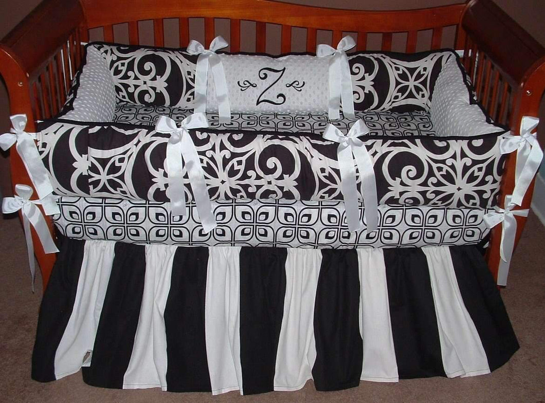 Black & White | Highland Terrace Crib Bedding