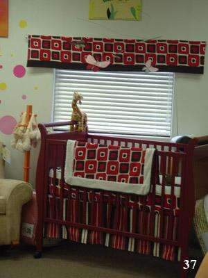 Red and Brown | Illusions Crib Bedding
