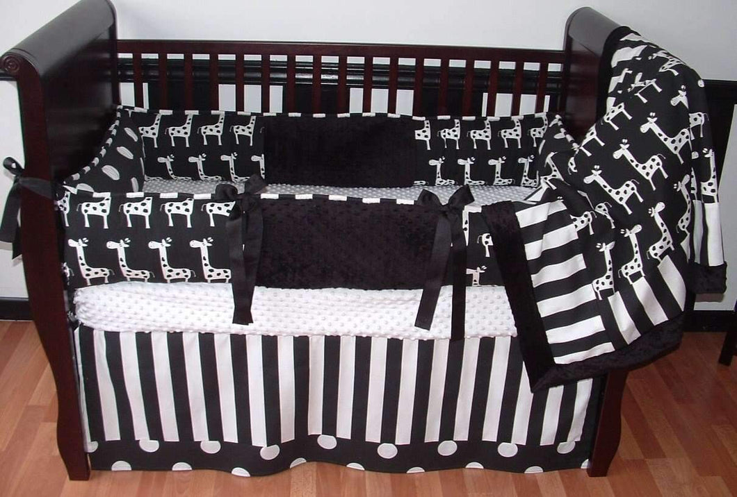 Black & White Ivan Crib Bedding