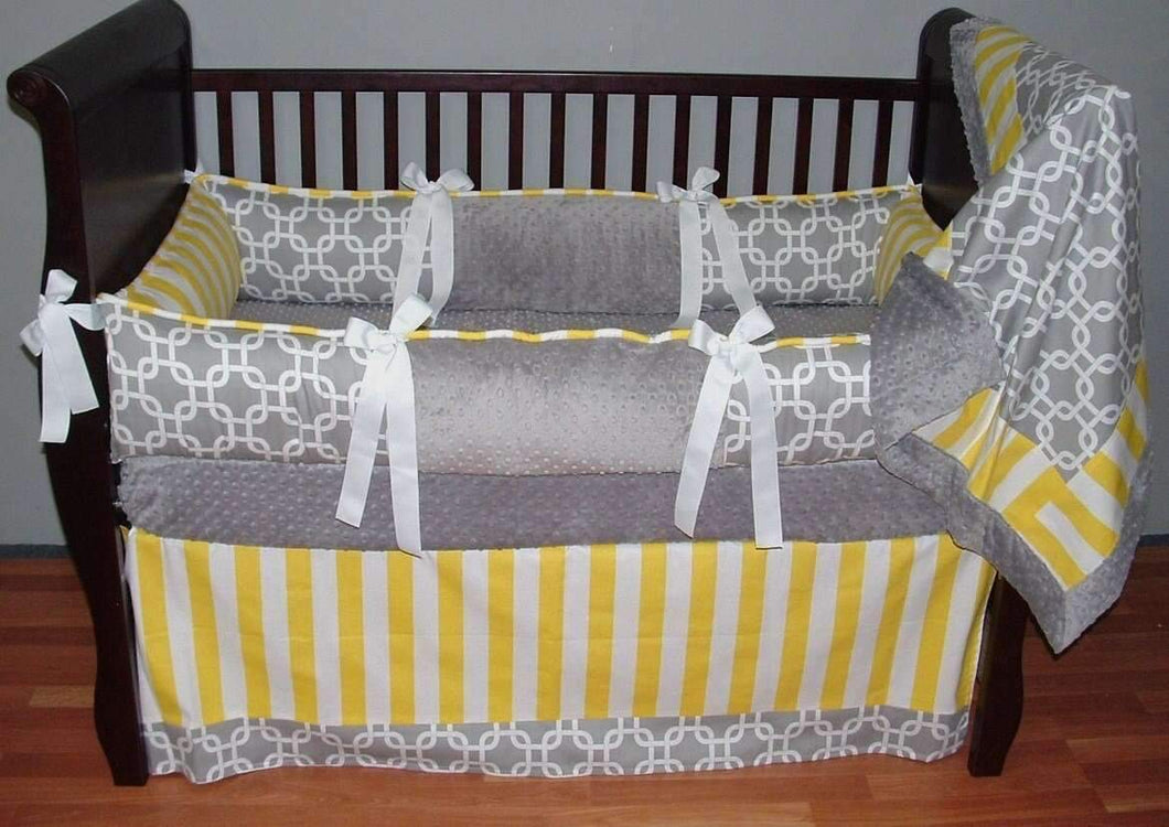 Grey & Yellow Jamie Crib Bedding