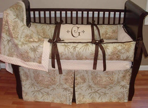 Jungle Toile Baby Bedding