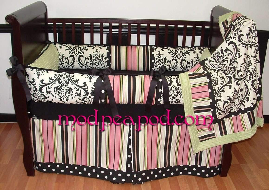 Kate Sage Crib Bedding