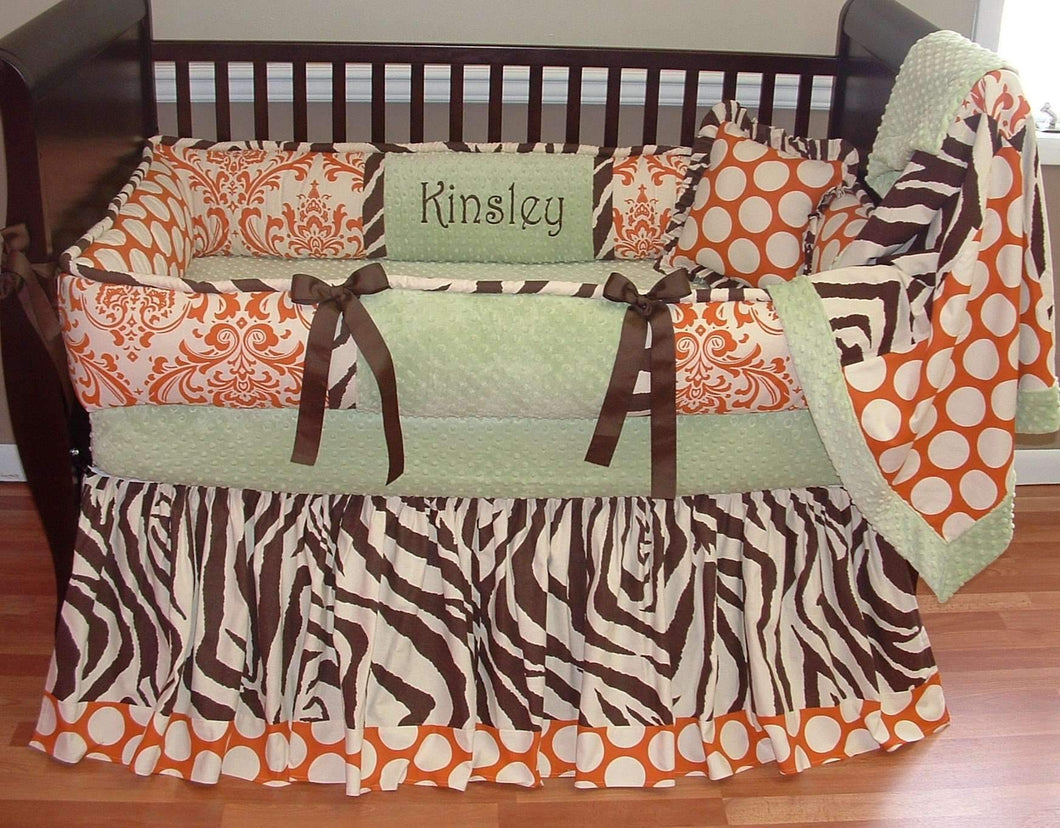 Orange & Cream Kinsley Crib Bedding