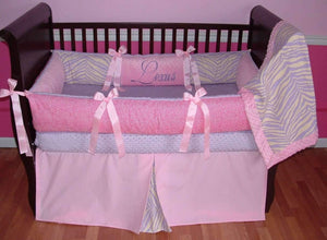 Pink & Purple Lexus Crib Bedding