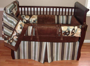 Grey & Brown Lyle Crib Bedding