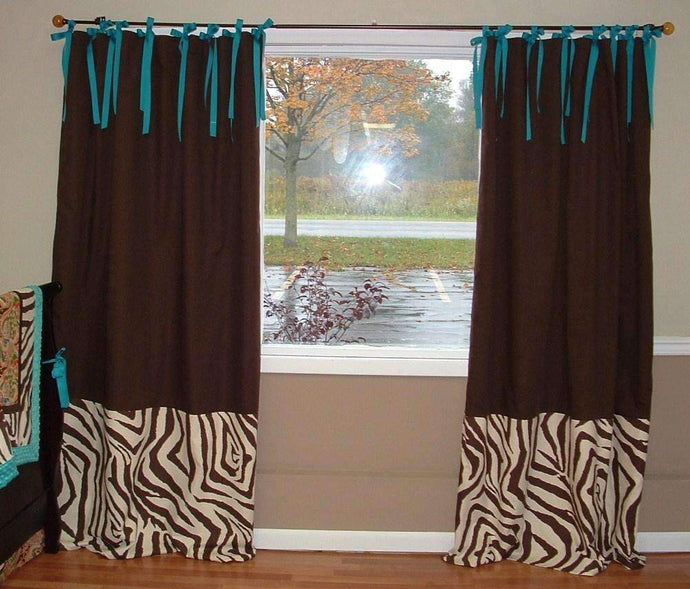 Tie top 2 fabric drapes