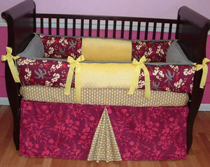 Red & Yellow Mulberry Crib Bedding