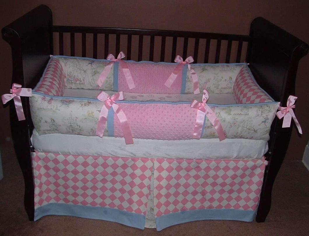 Over the Moon Pink Diamond Crib Bedding - Almost Gone for Good