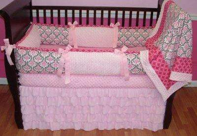Pink Peony Baby bedding