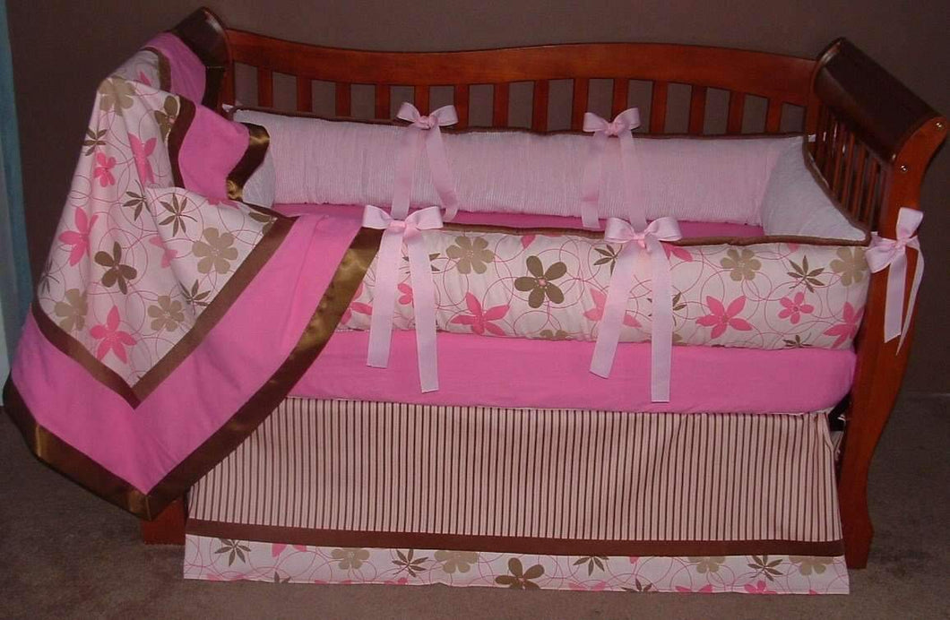 Pink Praline Crib set