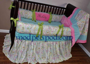 Pixie Paisley Crib Bedding - Almost Sold Out