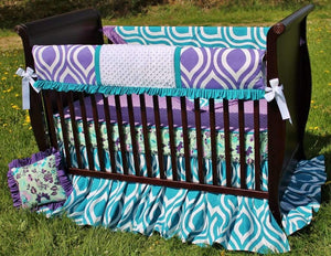 Poetic Peacock Crib Bedding Collection