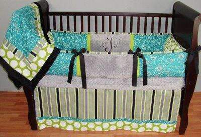 Preston Teal Crib Bedding