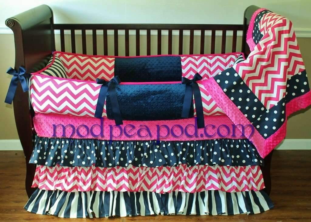 Remi Chevron Crib Bedding