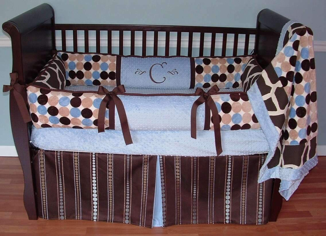 Retro Giraffe Crib Crib Bedding