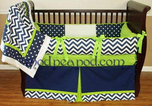 Sam Lime Crib Bedding
