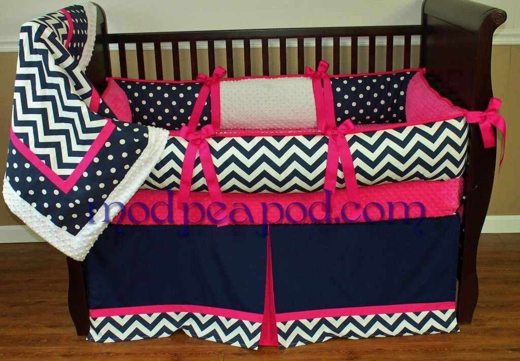 Sam Pink Crib Bedding