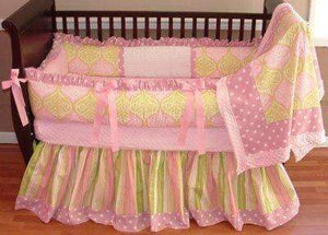 Sara Damask Crib Bedding