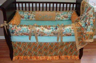 Surf City Crib Bedding