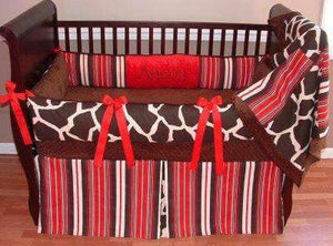 Sweet Apple Giraffe Crib Bedding