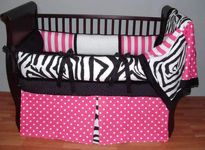 Sweet Candy Zebra Crib Bedding