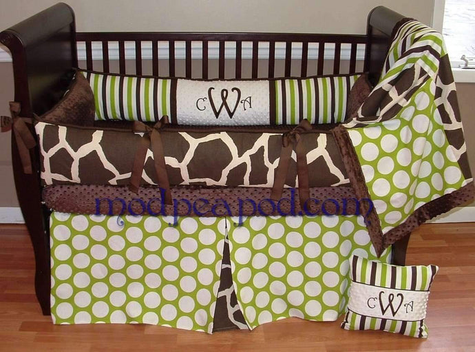 Sweet Pea Giraffe Crib Bedding