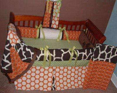 Sweet Potato Avocado Crib Bedding