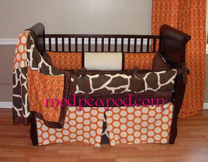 Sweet Potato Giraffe Crib Bedding