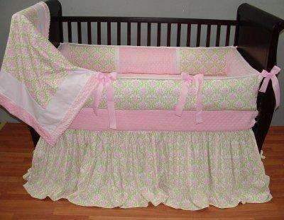 Tabitha Damask Crib Bedding