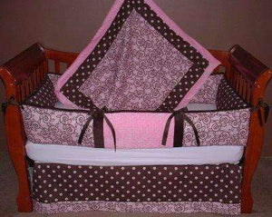 Trellis Pink Crib Bedding