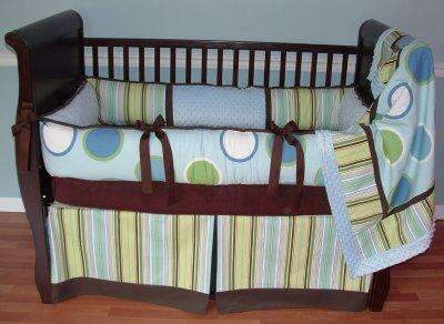 Twisted Stripe Crib Set
