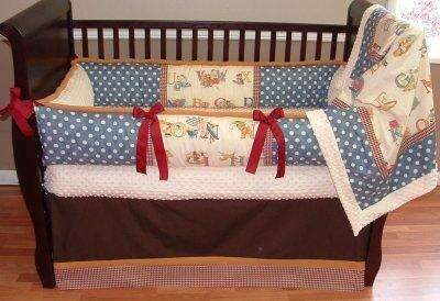Vintage Alphabet Crib Bedding