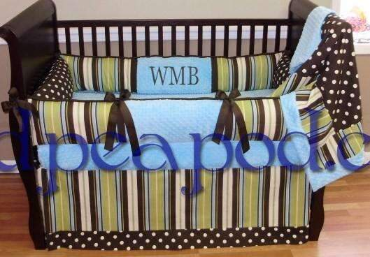 Wesley Stripes-N-Dots Crib Bedding