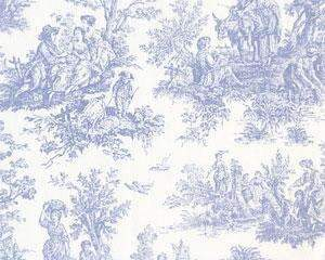 Baby Blue Toile