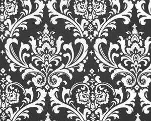 Black Large Damask