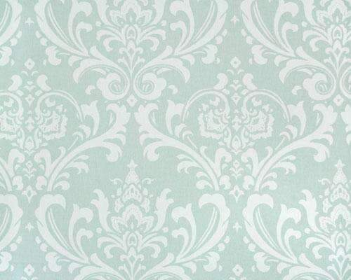 Dusty Blue and White Large Damask