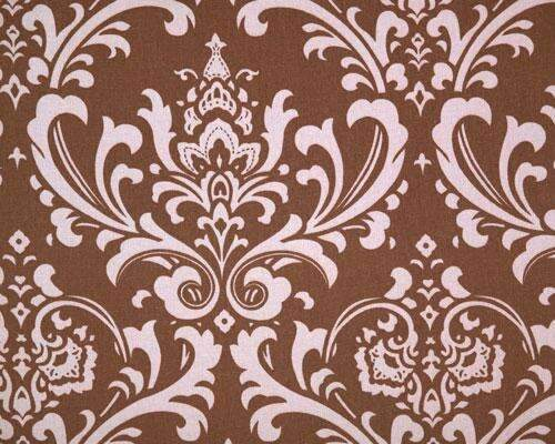 Brown and Pink Large Damask