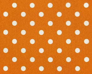 Orange & White Polka Dots
