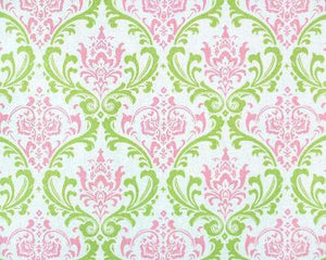 Pink & Green Madison Damask