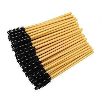 Disposable Mascara Wands Black & Gold - 50 pack - HYVE Beauty