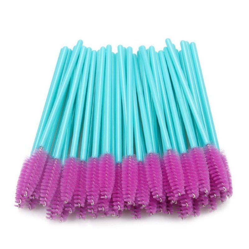 Disposable Mascara Wands Fuschia & Teal - 50 pack - HYVE Beauty