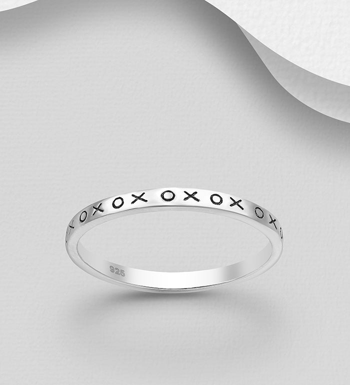 "XOXO"" Band Ring"