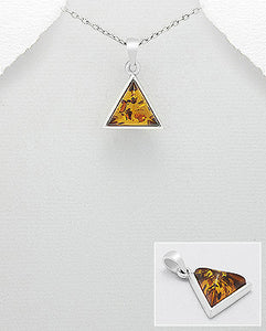 Triangular Baltic Amber Pendant