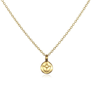 Gold Lotus Necklace – Delicate Flower