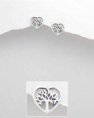 Heart & Tree of Life Earrings