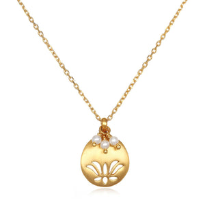 "Lotus Birthstone Necklace €"" June"
