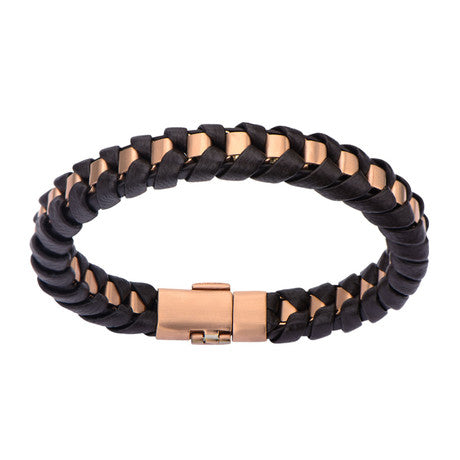 Matte Finish Leather Thread Bracelet