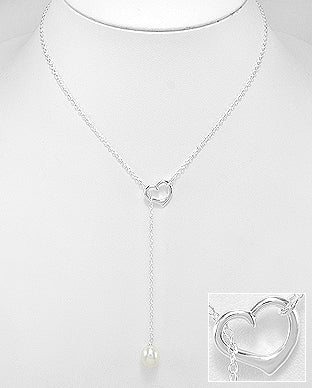 Pearl & Heart Necklace