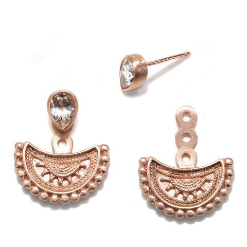 Creative Musings Rose Gold Earrings