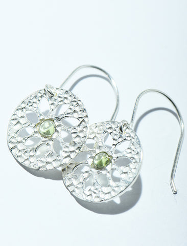 Hammered Petal Cutout earrings